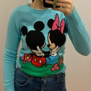 H&M Mickey mouse Aqua Sweater (4 US)